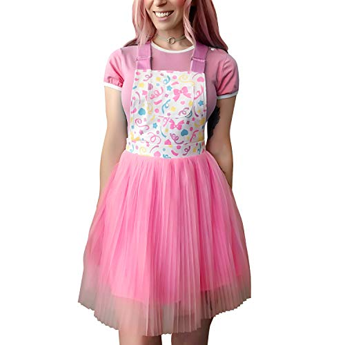 Littleforbig Overall Skirt Romper - Confetti Princess Overall Skirt 3XL Pink