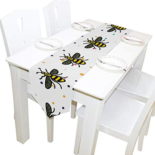 HHatt Manchester Bee Table Runners, Elegant Decor for Wedding Party Birthday Home Daily Use, 13