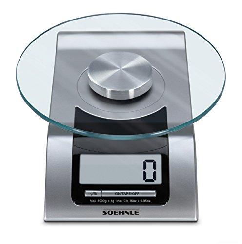 Soehnle Style - Báscula de cocina digital, plana, color plateado: Amazon.es: Hogar