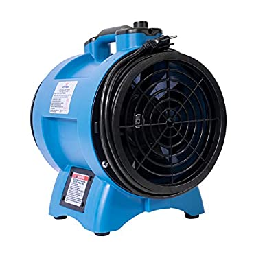 XPOWER X-8 8 inch Variable Speed Industrial Confined Space Fan, Blue