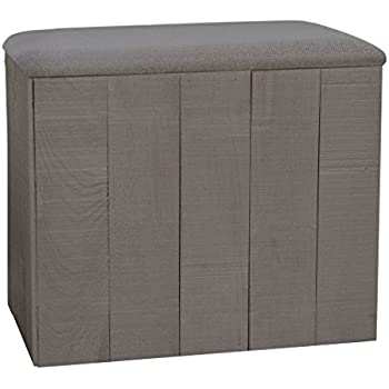 Amazon Com Lamont Limited Home Bench Hamper Wyatt Grey