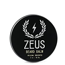 Zeus Conditioning Beard Balm for Men - 2 Oz - Natural Softening Conditioner for Facial Hair (UNSCENTED)