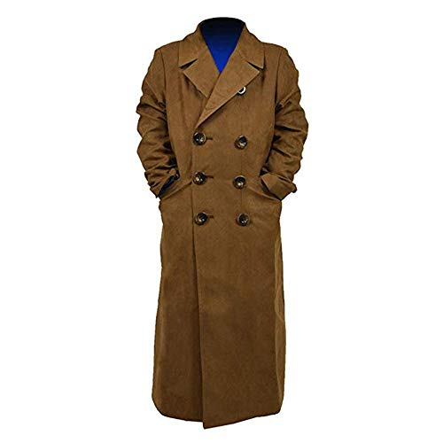 YANGGO Dr Children's Colorful Trench Coat Costume (Medium, Brown Trench -