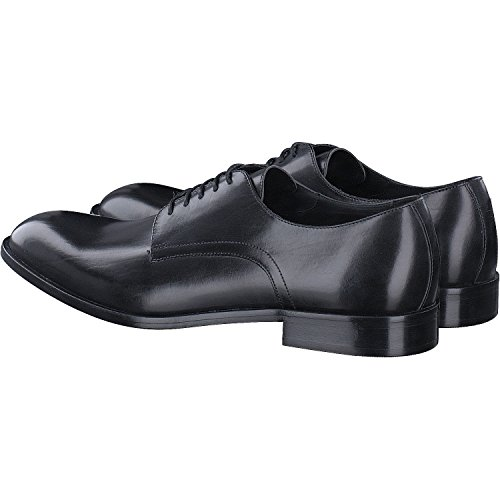 para Zapatos C Negro Hombre Cuero con Cordones de Geox U Saymore CaWqvgq