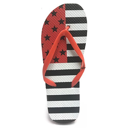 Fresko Kvinna Patriotisk Flip Flop Röd / Vit (svarta Stjärnor)