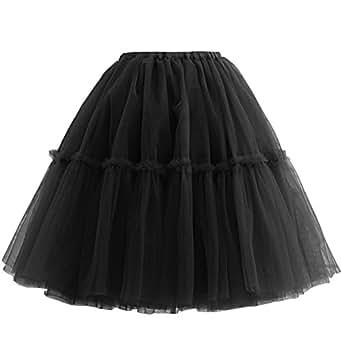 Nina Vintage Tutu Tulle Midi Womens Ballet Faldas Skirt Underskirt
