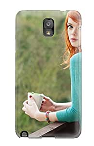 Fashion Tpu Case For Galaxy Note 3- Women Redheads Defender Case Cover by lolosakes