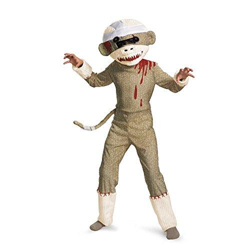 Zombie Sock Monkey Child Costume - Large