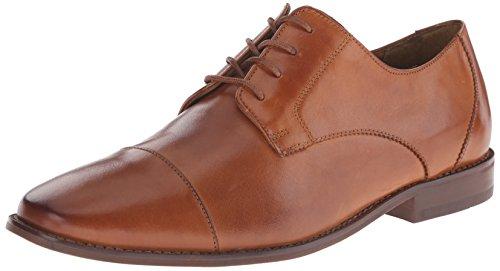 Florsheim Men's Montinaro Cap Toe Dress Shoe Lace Up Oxford, Saddle Tan, 9.5 D US