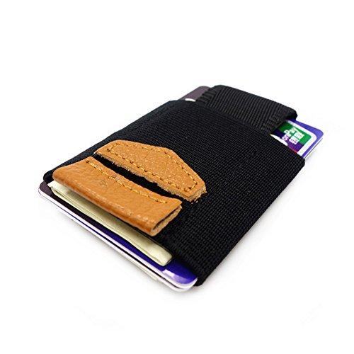 Weight for Men Artmi Cilp Card Grey Money Case Nylon Womens Light Holder Card Brown xq0IaS