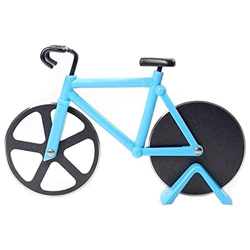 Bicycle Pizza Cutter Wheel Non-Stick Cutting Wheel Dual Stainless Steel best for Holiday Vacation Housewarming Cool…