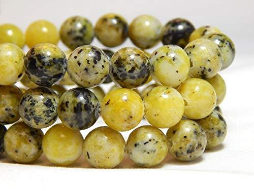 (48 Pcs 8mm Yellow Turquoise Gemstone Beads Yellow Green Natural Stones)