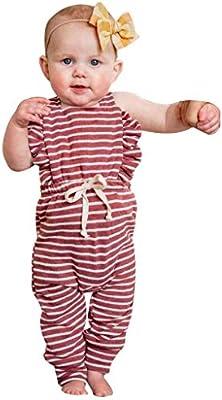 Newborn Baby Boy Girls Striped Cotton Romper Jumpsuit Bodysuit Acc Gift Hot New