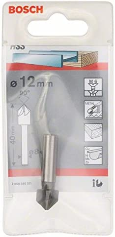 Bosch 2 608 596 371 Avellanadores c/ónicos 12 mm, M 6, 40 mm, 8 mm