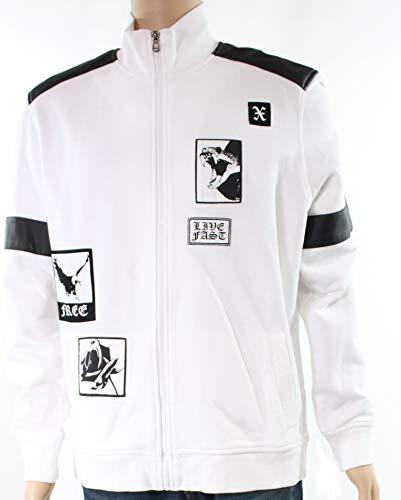 Concept Fleece - INC International Concepts Men's Fleece Jacket (Coal Melange/Deep Black, X-Large)