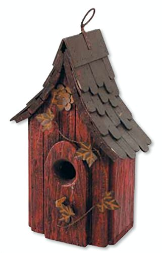 Birdhouse Red Roof - 12