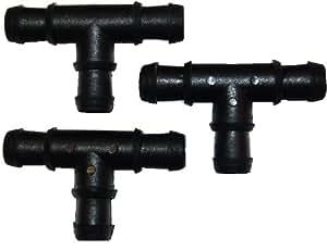 Agralan AS32 - Conectores en forma de T para manguera de remojo (3 unidades)