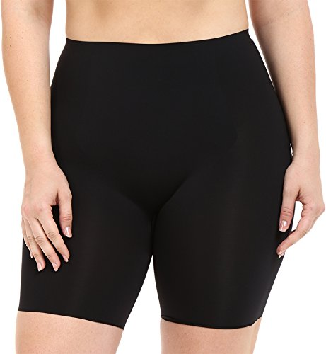 SPANX Women's Plus Size Thinstincts Mid-Thigh Short Very Black 3X