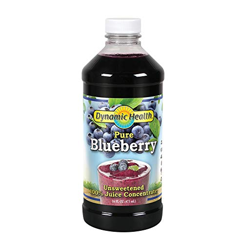 Dynamic Health 473ml 100% Pure Blueberry Juice Concentrate, 16 Fl. Oz (Grape Fruit Juice Concentrate)