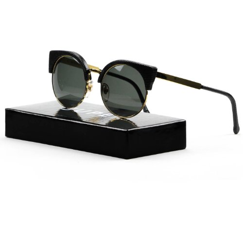 RETROSUPERFUTURE Super Sunglasses 925 Ilaria Black Gold Lizard w/ - Super Sunglasses Retrosuperfuture