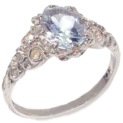 Natural Aquamarine Womens Anniversary Ring - Size 11.25 ()