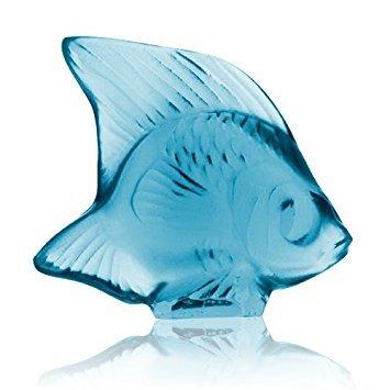 Lalique - Animals - Seal Fish Turquoise