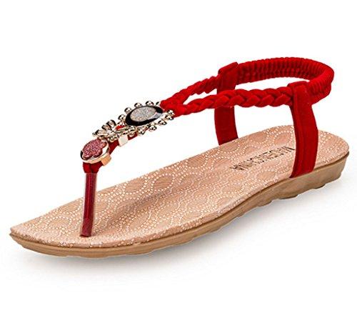 GFONE - alpargatas mujer Red
