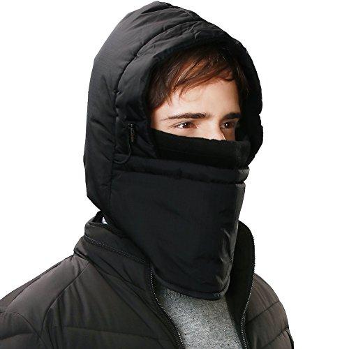 SIGGI Neck Gaiters Warmer Balaclava Face Mask Motorcycle Cycling Ski Tactical Hood Warm Winter Men Waterproof Black