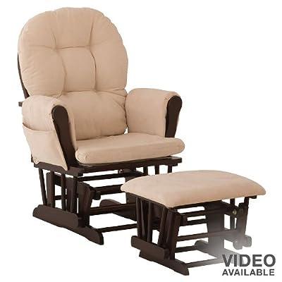 Coaster 2-pc. Glider Rocking Chair & Ottoman Set