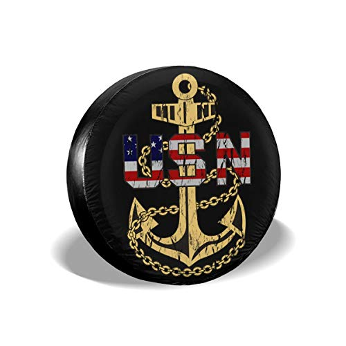 - Laxoinh US Navy Chief Petty Officer Spare Tire Cover Waterproof Dust-Proof Fit for Many Vehicle (1PCS) 14 Inch
