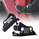 Xprite Front Foot Pegs with Jeep Face for 2018-2019 Jeep Wrangler JL