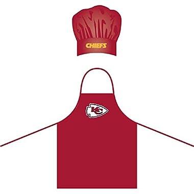 NFL Kansas City Chiefs Chef Hat and Apron Set
