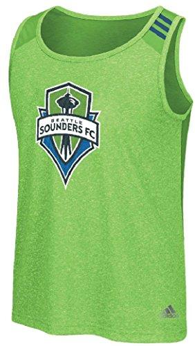 adidas MLS Seattle Sounders Fc Men's Lightweight Tank Top, Rave Green, Medium - Sleeveless Soccer Jersey