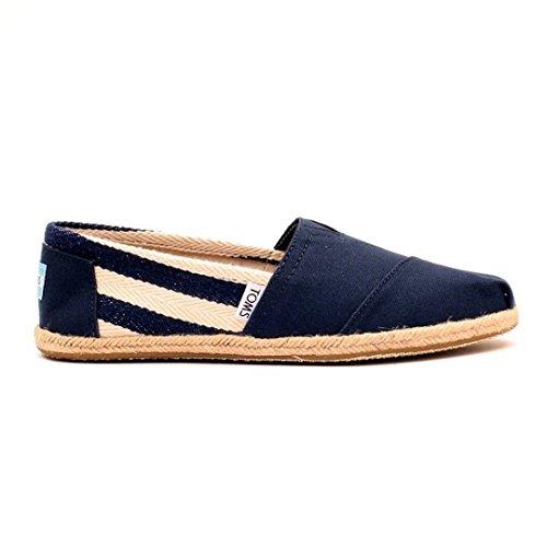 TOMS Womens University Classic Stripe Shoe Navy/Stripe AkU5gLI4Bx
