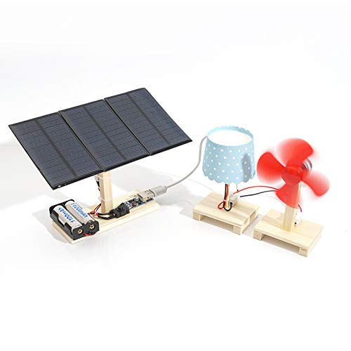 LBgrandspec Learning & Education Mini Solar Power Plant Station Model DIY Students Wooden Physical Science Toy