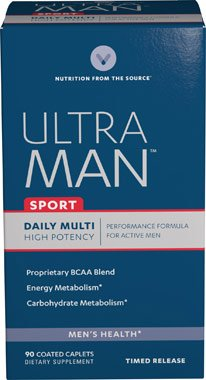 Vitamin World Ultra Man Sport Daily Multi Vitamin, 90 Coated Caplets
