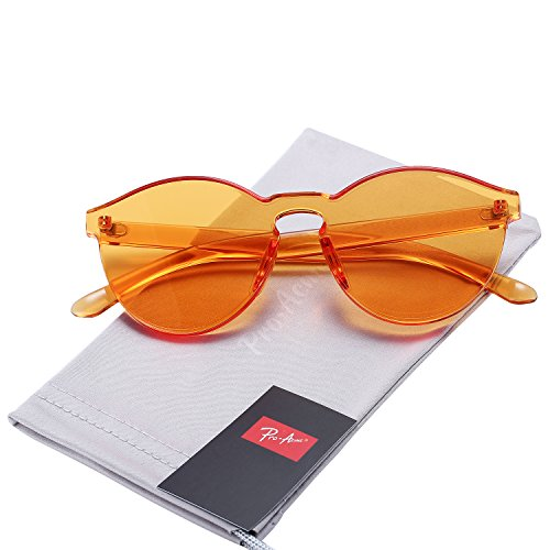 Pro Acme One Piece Design Rimless Sunglasses Ultra-Bold Colorful Mono Block - Glasses Round Rimless