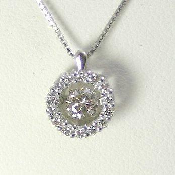 5d77763eee 揺れるダイヤモンド ダンシングストーン ダイヤモンドネックレス 一粒 プラチナ ダイヤモンド 0.2ct 鑑定書付ダイヤモンド 0.204