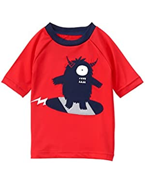 Baby Toddler Boys' Red Monster Rashguard