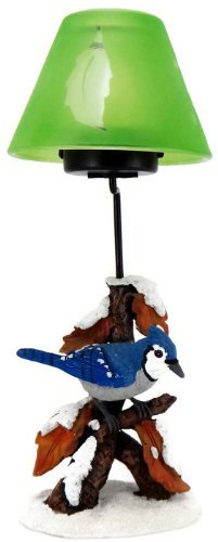 Nature's Accent Blue Jay Tea Light Lamp Candle Holder by Nature's Accent