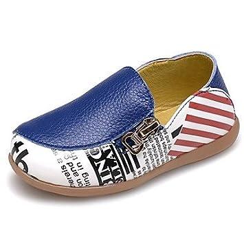FAGL Zapatos de bebé Al aire libre/Informal/Deportivo Cuero de charol Mocasines Azul , Royal Blue , US5.5 / EU21 / UK4.5 Toddle: Amazon.es: Deportes y aire ...