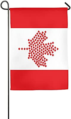 Amazon Com Flag Of Canada Garden Flag Indoor Outdoor Decorative