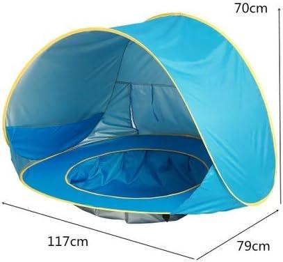 LJJYN al Aire Libre surgir Tienda bebé Playa Portátil Plegable Cabina Sombra Jugar Billar Playa Vacaciones Equipo,Blue,117 * 79 * 70cm: Amazon.es: Deportes y aire libre