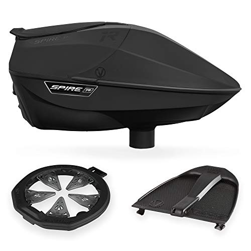 Virtue Spire IR Electronic Paintball Loader, CrownSF II Speedfeed, and Spring Ramp Bundle - Black
