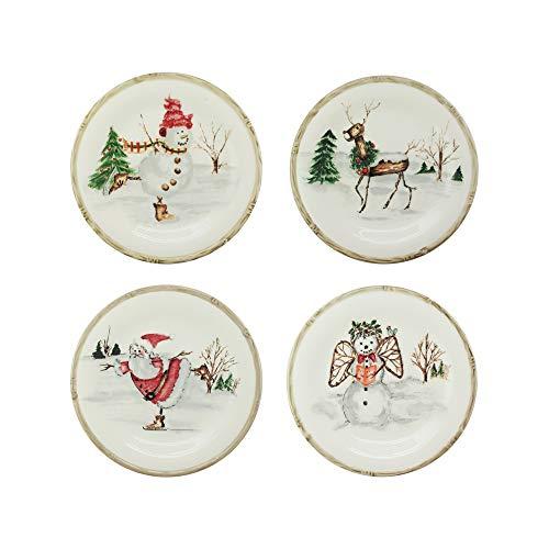 Klikel Christmas Twig Set of 4 Salad Plates
