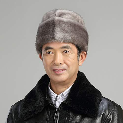 (Mink Fur hat Cap lei feng Dome Winter Elderly Elderly Men Man Winter Warm Cotton Cap Landlords Princes)