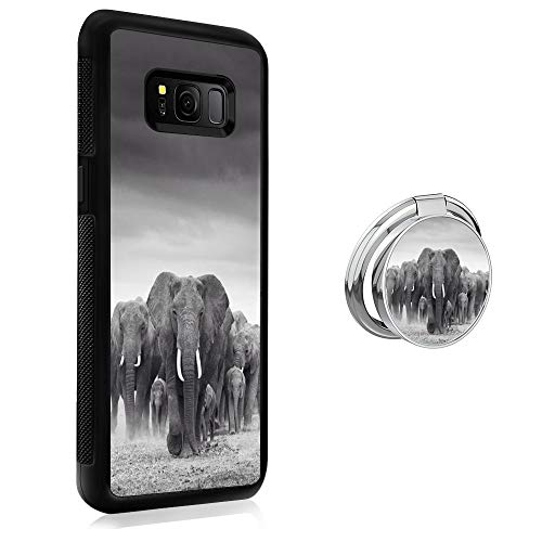 - Case for Samsung Galaxy S8 Plus case Elephant group With Ring Holder Slim Soft and Hard Tire Shockproof Protective Phone Cover Case Slim Hybrid Shockproof Protective Case Anti-Scratch Cushion Bumper w