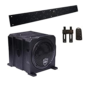 "Wet Sounds Package - Black Stealth 10 Ultra HD Sound Bar w/ Remote and AS-6 6"" 250 Watt Powered Stealth Subwoofer"