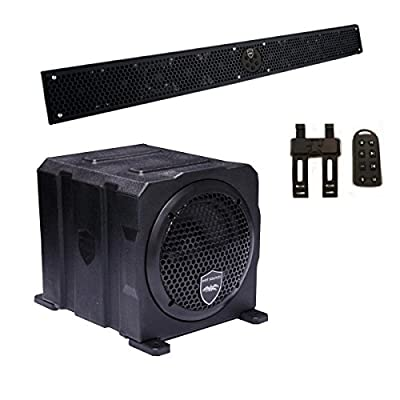 """Wet Sounds Package - Black Stealth 10 Ultra HD Sound Bar w/ Remote and AS-6 6"""" 250 Watt Powered Stealth Subwoofer"""