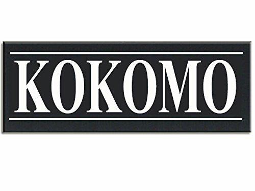 Kokomo Hometown Love City Wood Handpainted 16 inch X 5.5 inch Plaque Sign.]()